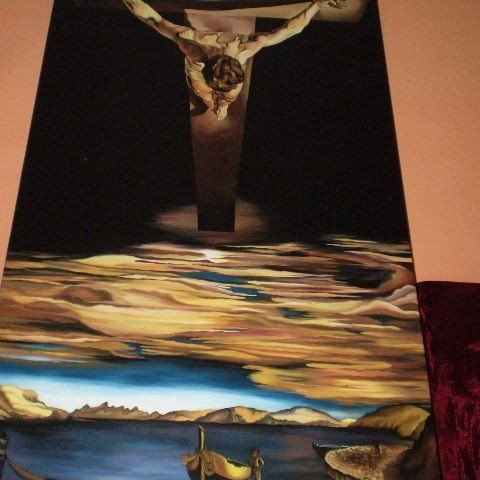 Salvador Dali - Christ of saint john of the cross 1951 .