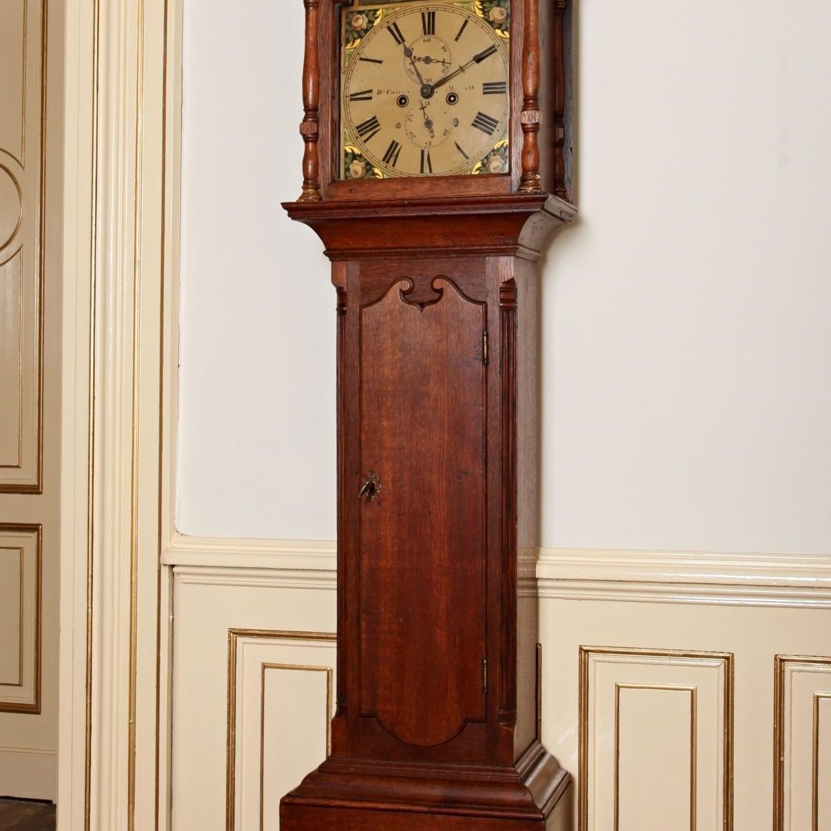 Skotské podlahové hodiny. Signované. Cca 1820. Funkční