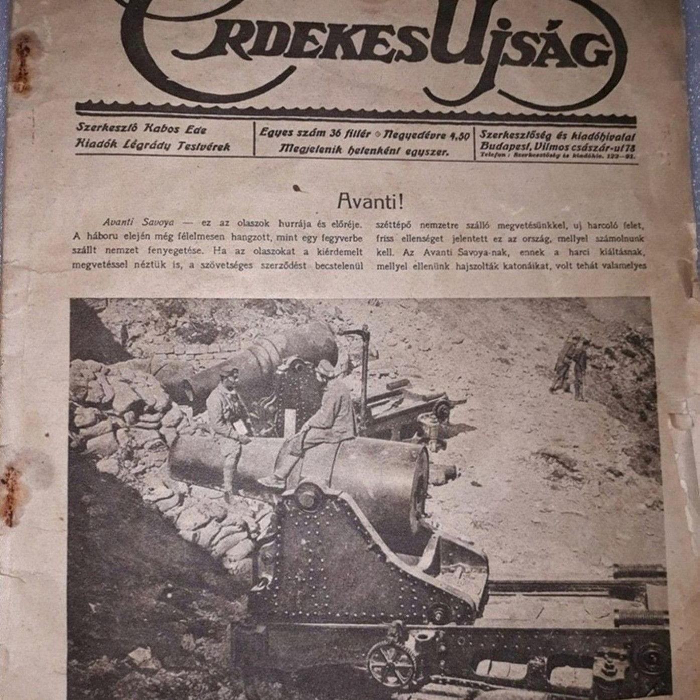 Staré maďarské noviny Az Érdekes Ujság 1916