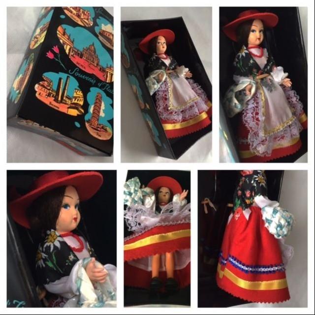 Starožitná zberateľská bábika TALIANSKO (c1960-70)