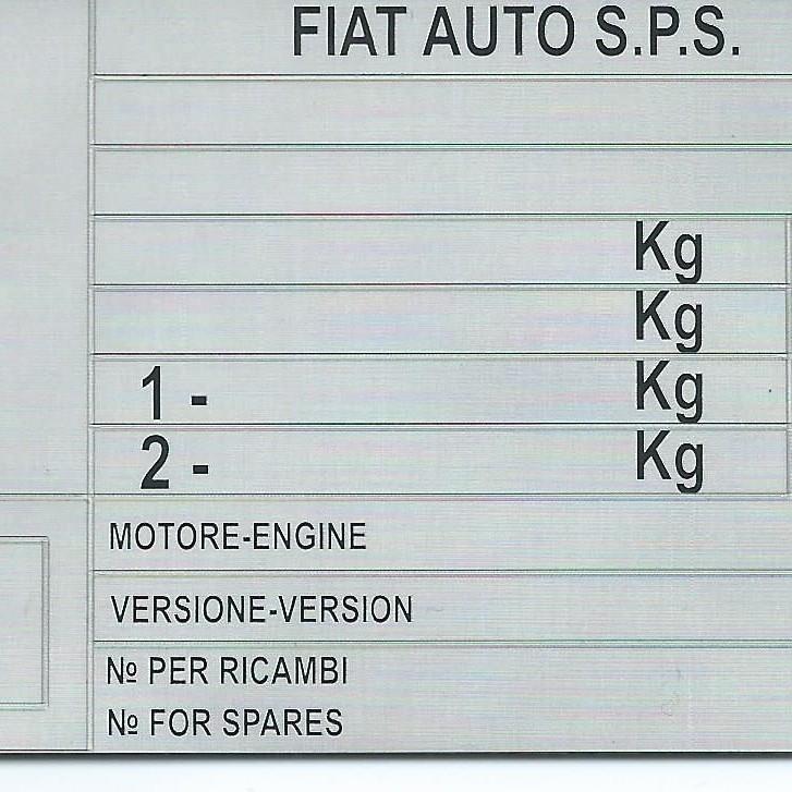 Štítky na Fiat.