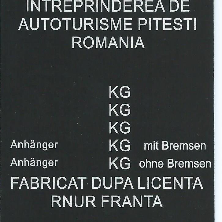 Štítok na Dacia