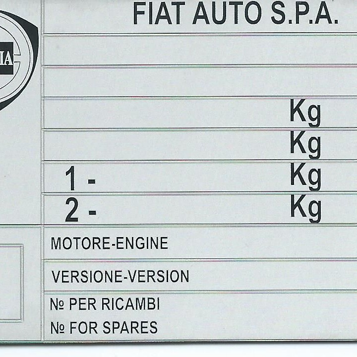 Štítok na Lancia